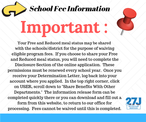 Important School Fee Information
